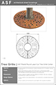 ASF Planet Round Laser Cut Tree Grille Corten