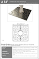ASF Planets Square Laser Cut Tree Grille Stainless